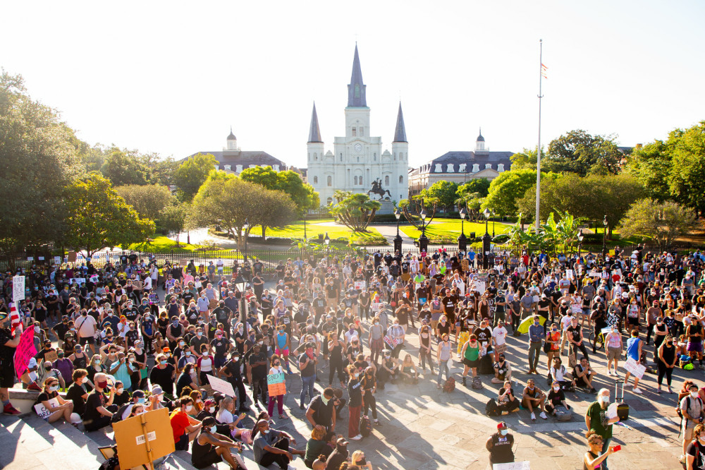 June 2020 Black Lives Matter protest at Jackson Square in New Orleans