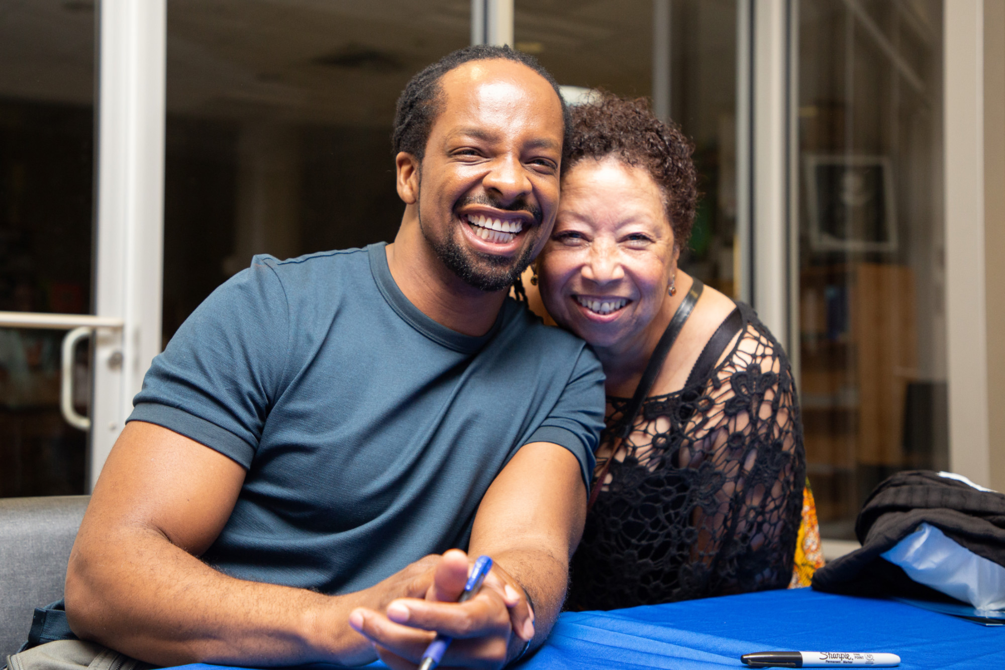 Dillard alumnus Jericho Brown and his former poetry professor Mona Lisa Saloy