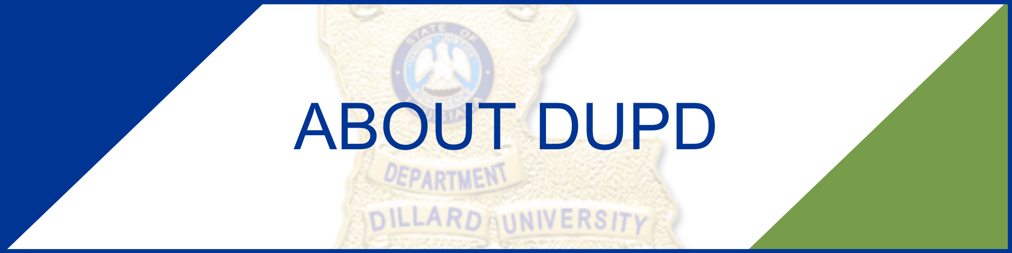About the Dillard University Police Department